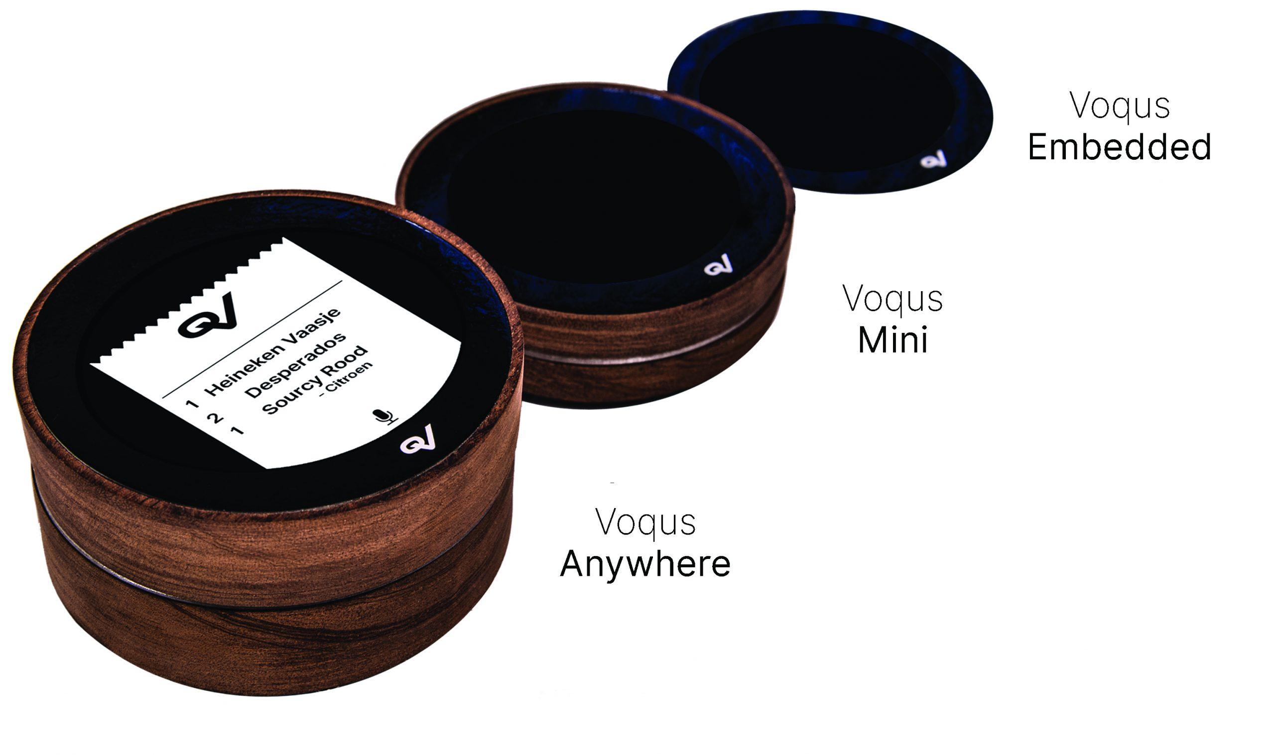 3 uitvoeringen Voqus spraakgestuurd bestellen horeca